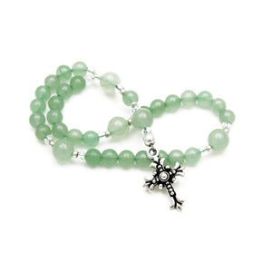 Green Aventurine Anglican Prayer Beads Rosary by Unspoken Elements