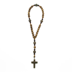 Autumn Jasper and Wood Anglican Prayer Beads by Unspoken Elements