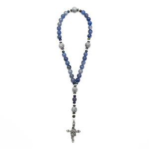 Blue Aventurine Christian Prayer Beads by Unspoken Elements