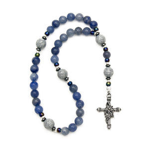 Blue Aventurine Prayer Beads by Unspoken Elements
