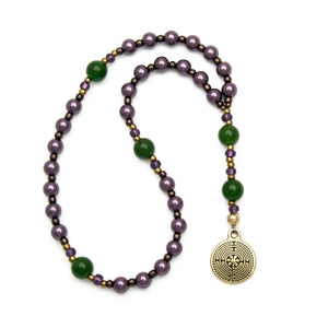Purple & Green Anglican Prayer Beads - Unspoken Elements