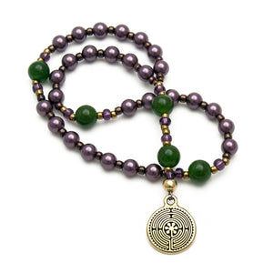 Looking Ahead Labyrinth Prayer Beads - Unspoken Elements