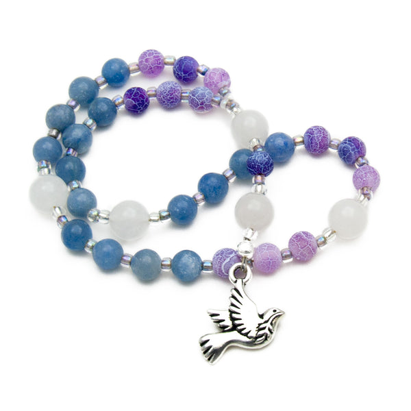 Peaceful Spirit Prayer Beads Anglican Rosary