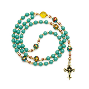 Traditional 5 Decade Rosary Handmade in USA by Unspoken Elements