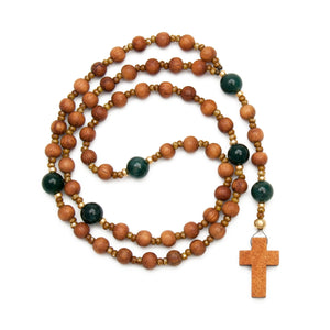 Wood & Agate Rosary