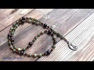 Chaplet of St. Michael Rosary - Green