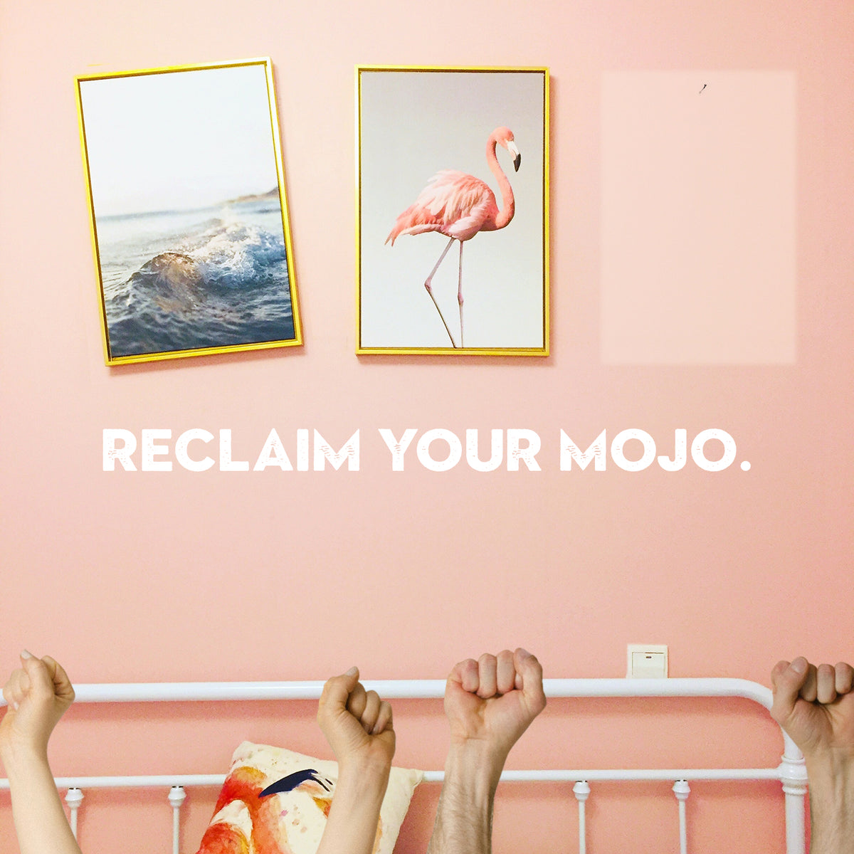 Mojo enhancement image with pictures on wall