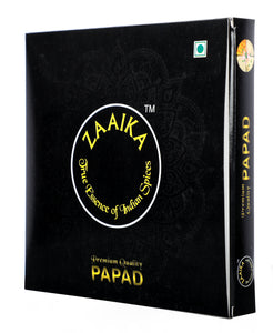 Zaaika Heeng Papad Premium Taste Indian Crispy Papad - 500 gm