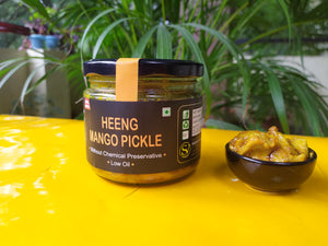 ZAAIKA Heeng Mango Pickle Low Oil Home Made Achaar No Preservatives - 300 Grams