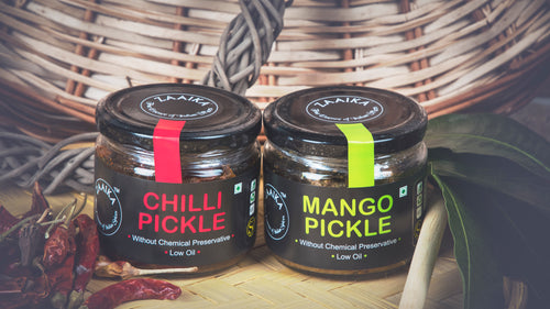 Zaaika Pickles, Chili and Mango, 200 Grams (Combo of 2)