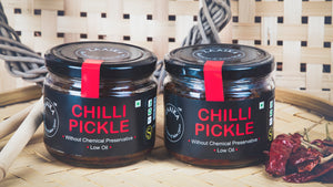 Zaaika Pickles, Chili, 200 Grams (Pack of 2)