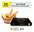 Zaaika Jeera Papad Made with Moong Daal Tasty Premium Crispy Papad - 500g Pack