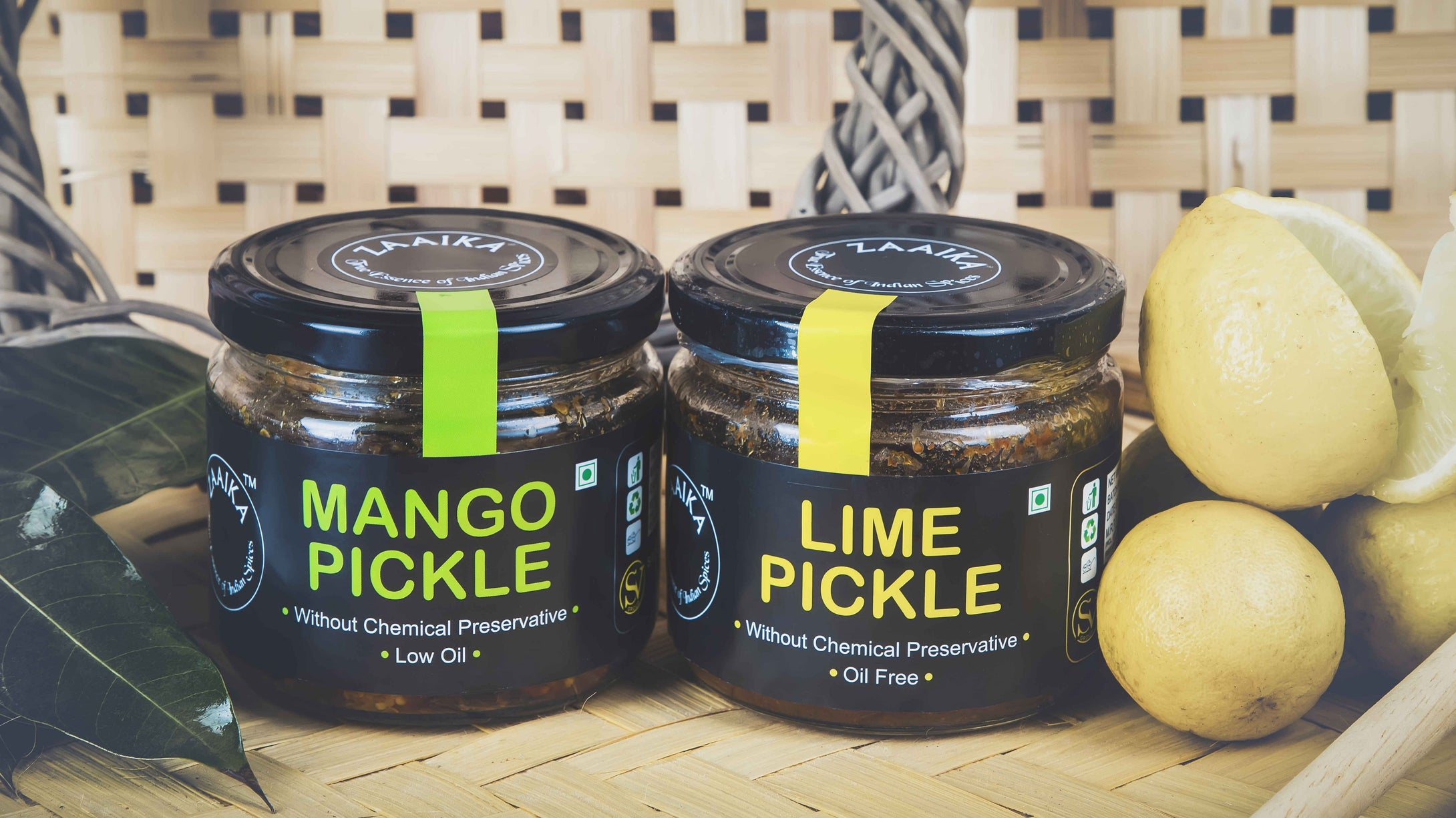 Zaaika Pickles, Mango and Lime, 600 Grams (Combo of 2)