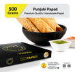Zaaika Punjabi Papad Made with Urud Flour Tasty Crispy Premium Papad -500g Pack