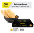 Zaaika Rajasthani Papad Made with Moong and Urad Mix Daal Tasty Premium Indian Snacks - 500 gm Pack