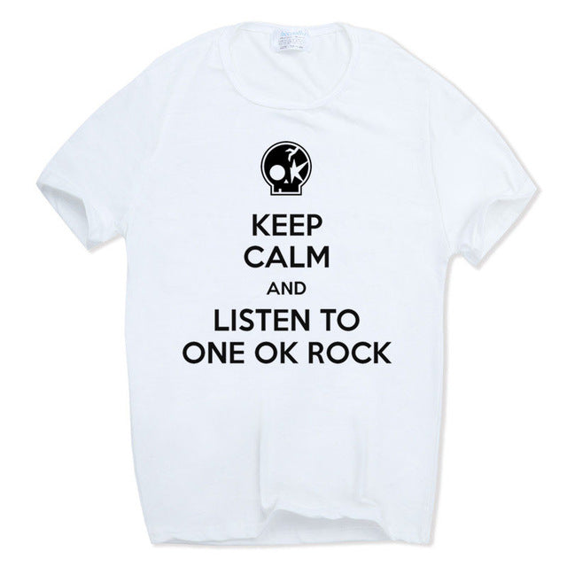 ONE OK ROCK Keep Calm Tshirt Blanc - Chijaco