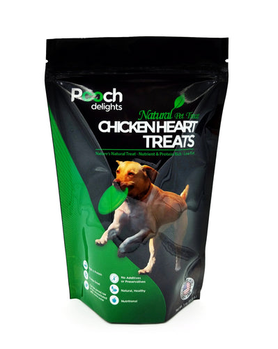 All Natural Chicken Heart Dog Treats - 3 oz.