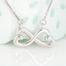 Gift From Grandma Necklace Birthday Infinity Heart Pendant W/T Birthday Card With Name