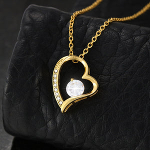 Thanks You Friend Cute Gift Beautiful Jewelry Forever Love Necklace 18k Gold Finish W/T Nice Card