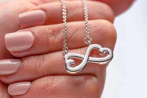 Spirit Gift Jewelry Pendant Infinity Love Necklace Gold Plated Handmade In USA W/T Nice Card