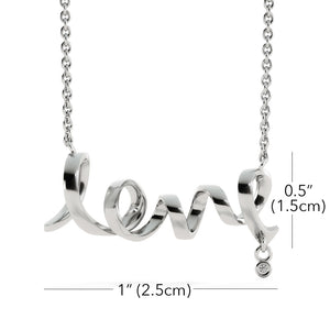 Lady Gift Fabulous Birthday Trendy Jewelry Script Love Necklace Cubic Zirconia W/T Personalize Card