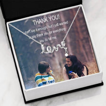 Thanks For Everything Friend Gift Nice Jewelry Script Love Necklace Best Quality W/T Perfect Card