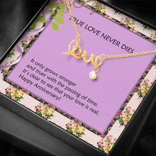 Happy Anniversary Thoughtful Gifts Anniversary Jewelry Trendy Necklace Cubic Zirconia Gold Plated