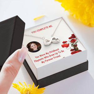 You Are Awesome Unique Gift Love Jewelry Infinity Necklace 14k White Gold Cable Chain W/T Best Card