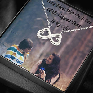 Friend Gift Love And Friendship Perfect Jewelry Infinity Necklace Gold Chain Handmade Custom card