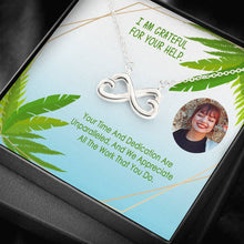 Top Gift Thanks For Your Help Nice Jewelery Infinity Necklace High Quality W/T Customize Card