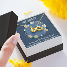 Love Unlimited Perfect Gift Beautiful Jewelry Infinity Heart Necklace Handmade W/T Pretty Card