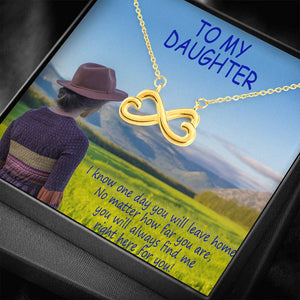 Daughter Gift Perfect Jewelry Infinity Necklace Last Long Good Quality 18k Gold Plated Cute Card