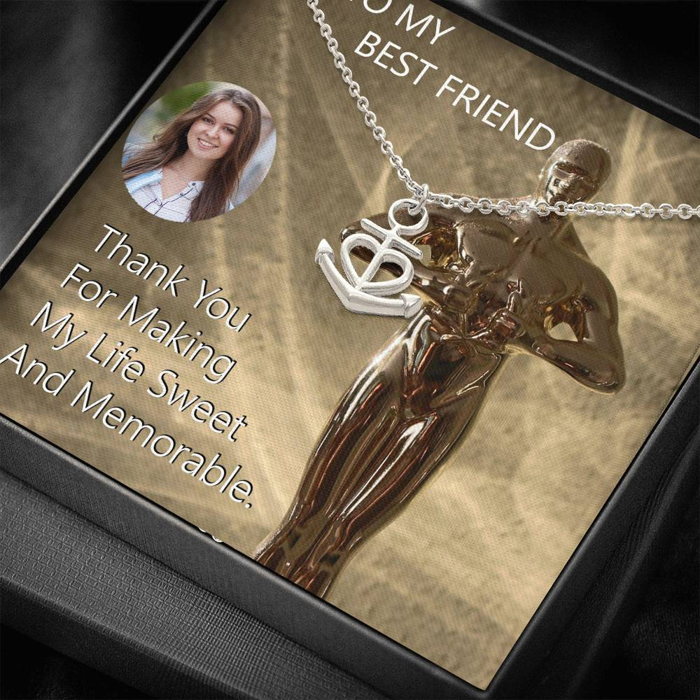 Top Gift Friendship Jewelry Pendant Necklace Surgical Steel Handmade In USA W/T Customize Card