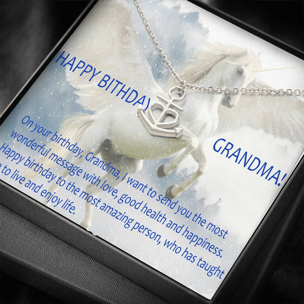 Happy Birthday Grandma Gift For Grandma Women Necklace Nice Jewelry Surgical Steel 18k Gold Plated