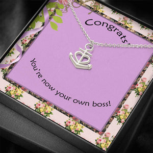 Congratulations Perfect Gift Nice Jewelry Necklace For Her Made In USA W/T Nice Card