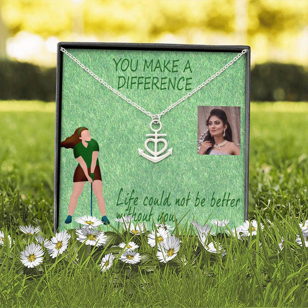 The Perfect Wife Unique Gift Artisan Jewelry Anchor Necklace Surgical Steel W/T Customize Card
