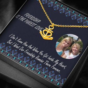 Best Gift True Friend Anchor Necklace Adjustable Cable Chain Handmade Jewelry W/T Personalize Card