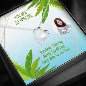 You Are Special Perfect Gift Luxury Jewelry Forever Love Necklace Cubic Zirconia W/T Customize Card