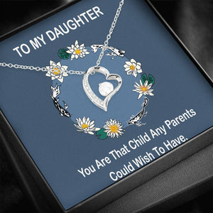 You Are My Everything Daughter Gift CZ Jewelry Forever Love Necklace 14k Gold Plated High Quality