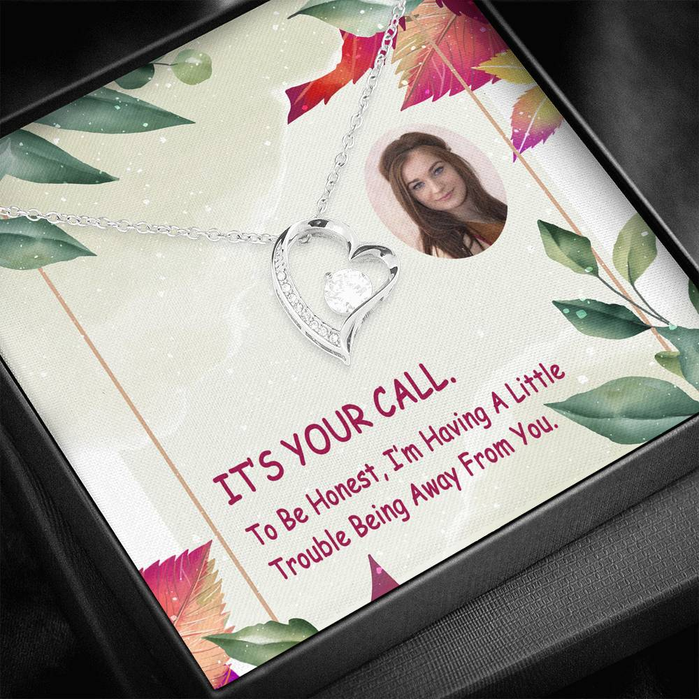 To Be Honest Missing You Nice Gift Cute Jewelry Forever Love Necklace Handmade W/T Personalize Card