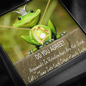 My Apologies Best Gift For Her Women Jewelry Forever Love Necklace USA Handmade W/T Nice Card