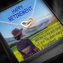 Happy Retirement Best Gift Cute Jewelry Interlocking Heart Necklace Handmade W/T Thoughtful Card