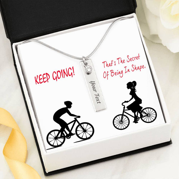 Keep Going Gift For Her Birthstone Necklace Stainless Steel Handmade Jewelry and Pretty Card