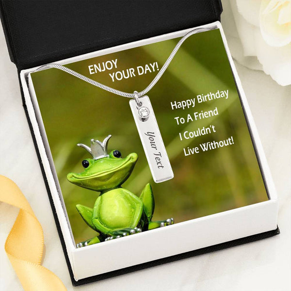 Enjoy Your Day Women Jewelry Birthstone Necklace Stainless Steel High Quality W/T Nice Card