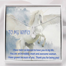 Dearest Wife Special Gift Alluring Necklace Perfect Jewelry 14k Gold Plated W/T Greeting Card