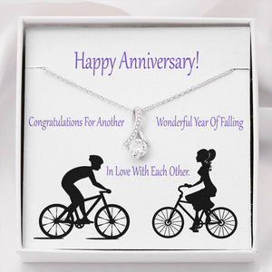 Anniversary Jewelry High Quality USA Handmade Beautiful Necklace Perfect Gift W/T Bike Lover Card