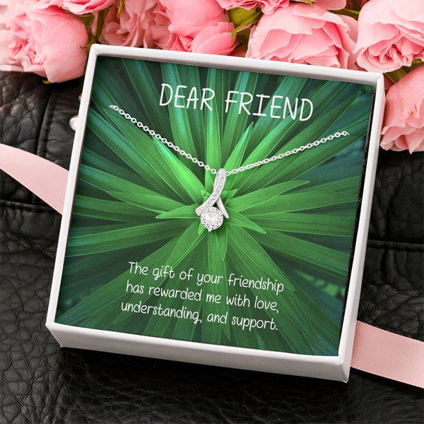 Dear Friend Handmade Cubic Zirconia Necklace Girls Jewelry Unique Gifts For Her And Custom Card