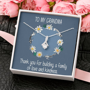 Cute Gift You're Perfect Grandma Jewelry Alluring Necklace 14k White Gold Finish W/T Nice Card