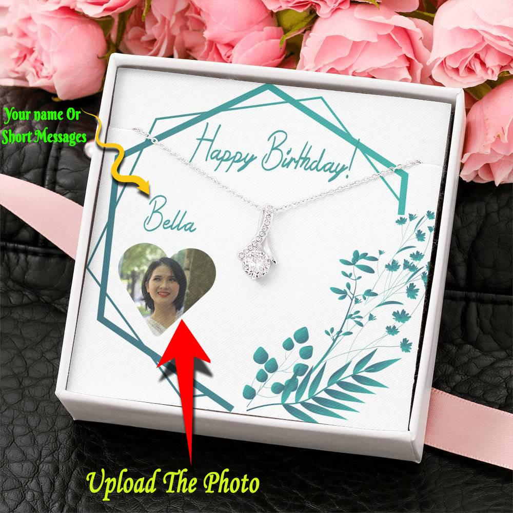 Best Birthday Jewelry Affordable Necklace Gold Pendant Necklace W/T Birthday Card With Name Edit