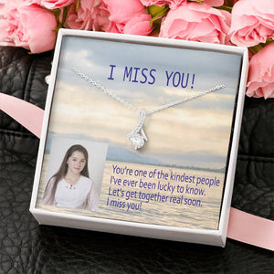 Miss You So Much Trendy Gift Perfect Jewelry Handmade In USA 14k Gold Plated W/T Personalize Card